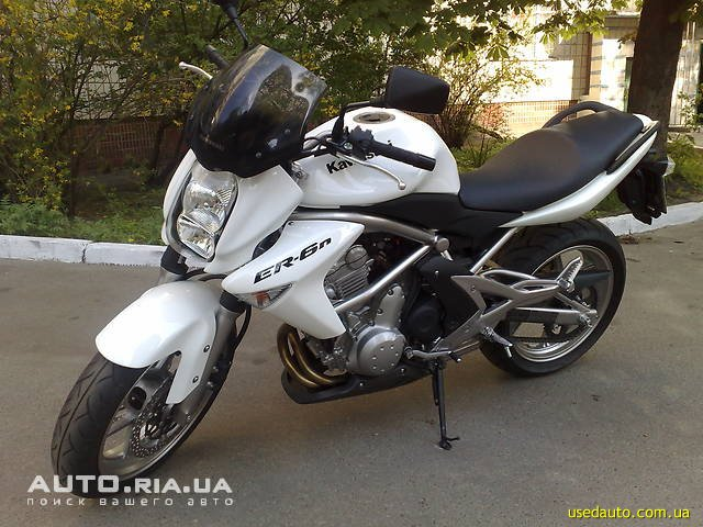 Kawasaki er 6n дорожный мотоцикл фото 1