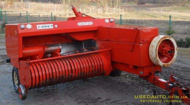 Продажа Пресс-подборщик тюковый SIPMA (С  , Сельскохозяйственный трактор, фото #1